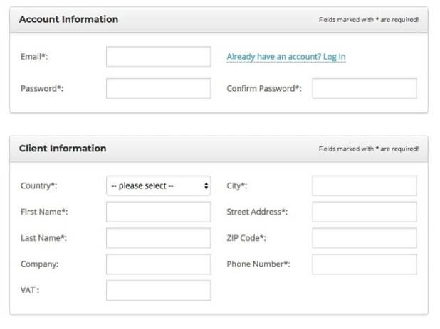 create a blog - siteground account details