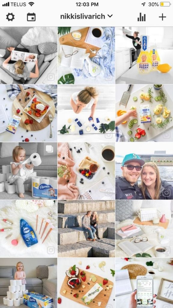 a screenshot of nikkislivarich's instagram feed within the preview instagram feed planner app