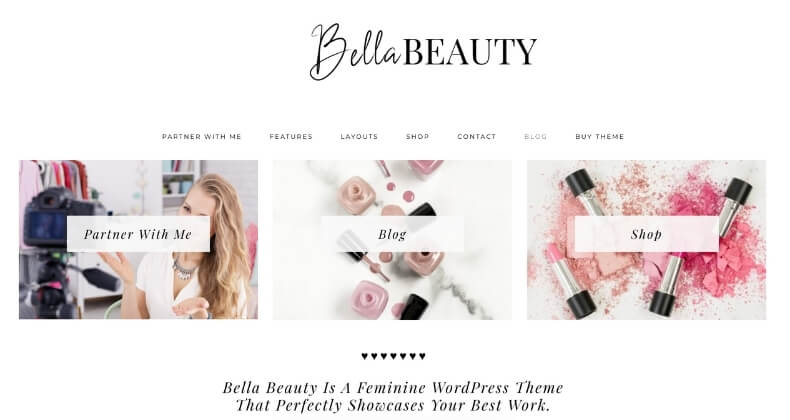 bella beauty feminine wordpress theme from creative market