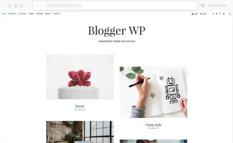 wp blogger feminine wordpress theme from creative market