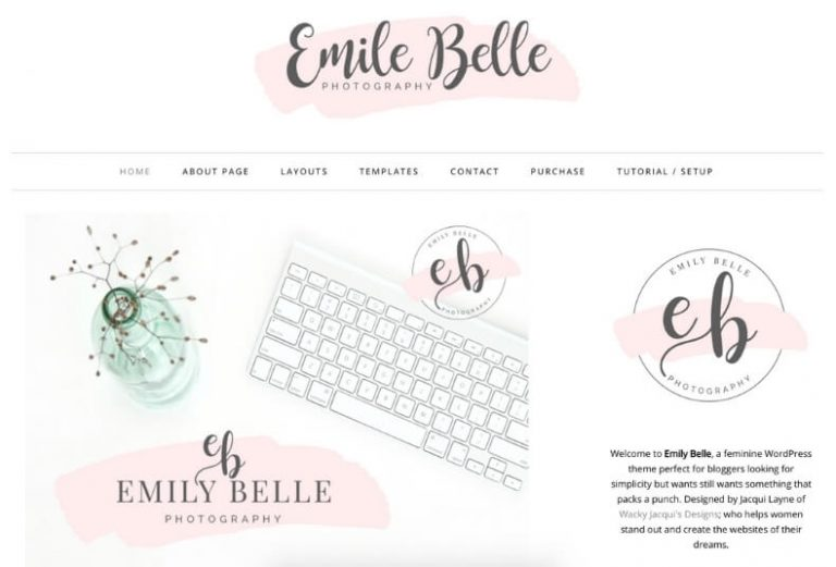 emily belle feminine wordpress theme from creative market