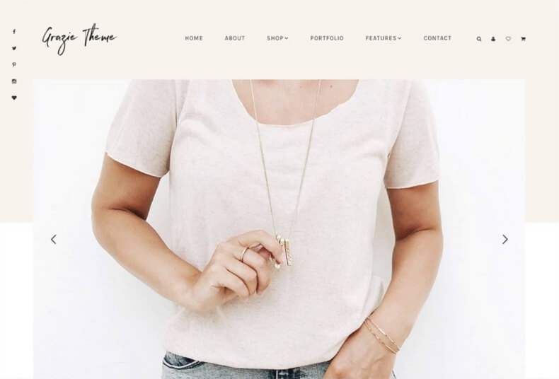 grazie feminine wordpress theme from creative market