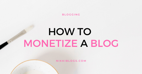 text reads how to monetize a blog
