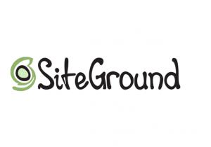 black font reads siteground web hosting logo