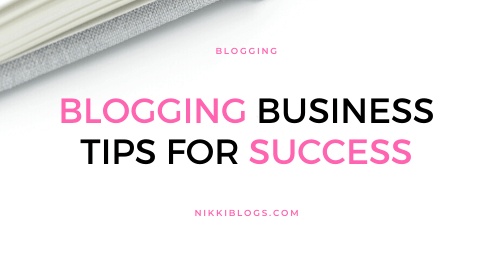 text reads blogging business tips for success