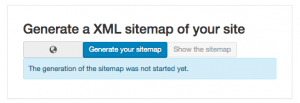 text reads generate a XML sitemap of your site