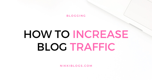 text reads how to increase blog traffic