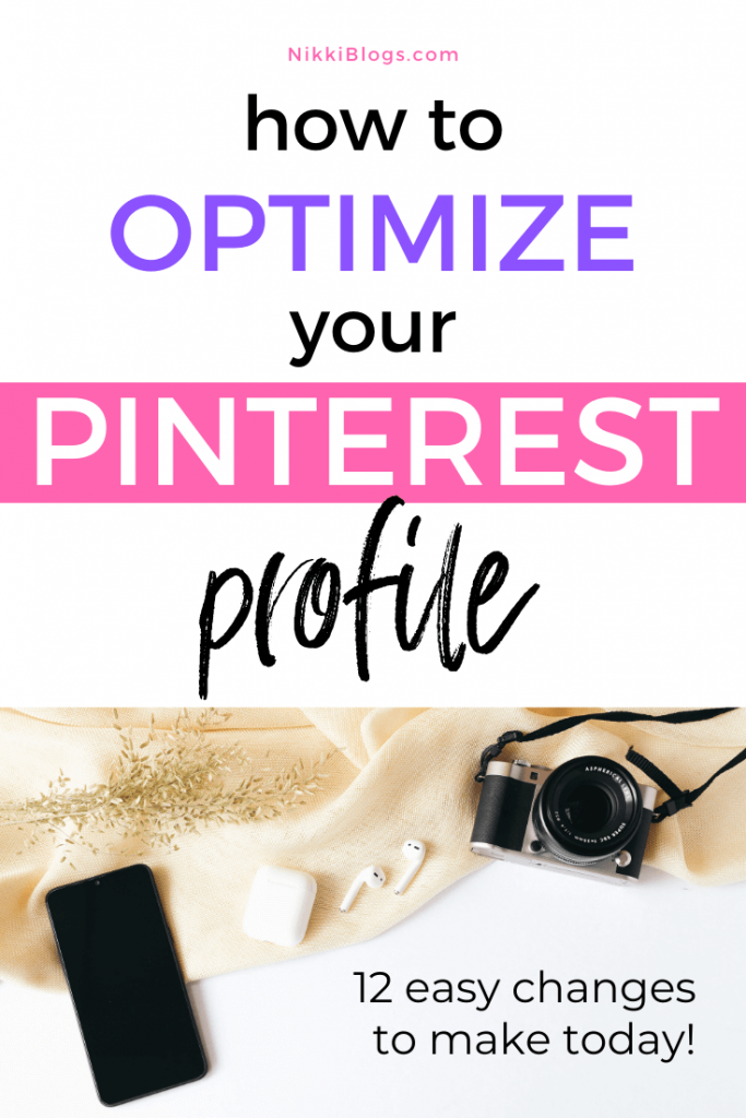 text reads how to optimize your pinterest profile