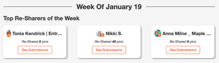 screenshot of nikki blogs tailwind tribes weekly highlights