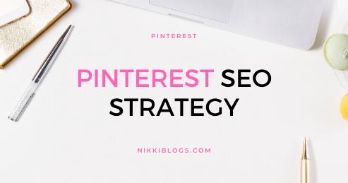 text reads pinterest seo strategy