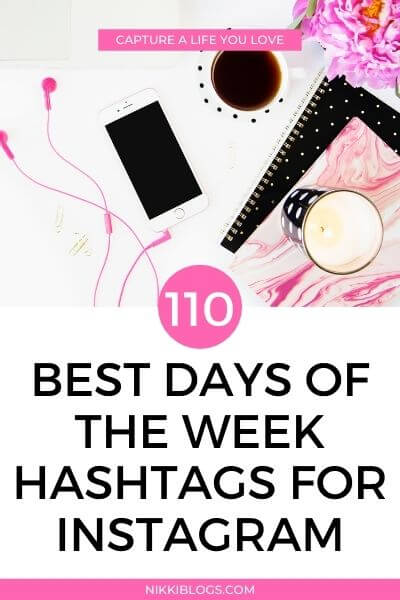 best days of week hashtags