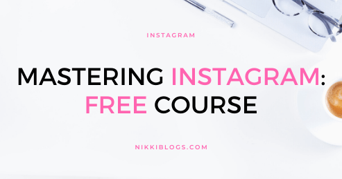 text reads free instagram course: mastering instagram