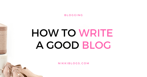text reads how to write a good blog: blogging tips for beginners