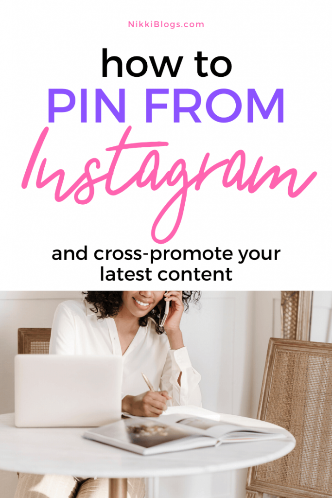 text reads how to pin from instagram and cross-promote your latest content