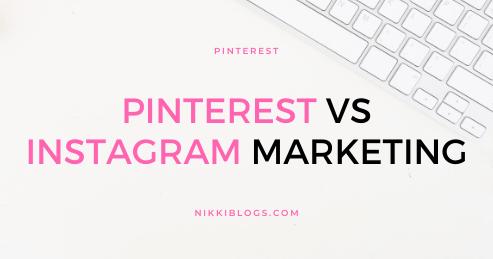 text reads pinterest vs instagram marketing tips