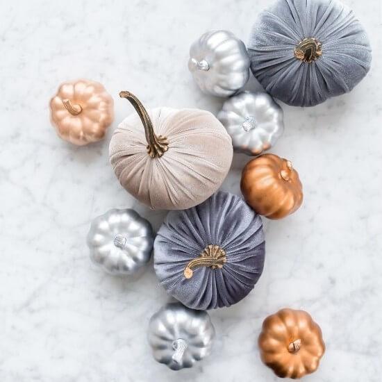halloween blog post ideas - crafts - pumpkin flat lay