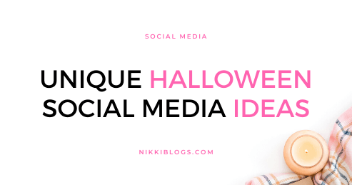 text reads unique halloween social media ideas