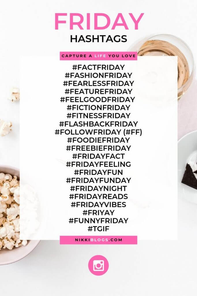text reads friday hashtags followed by 22 popular choices