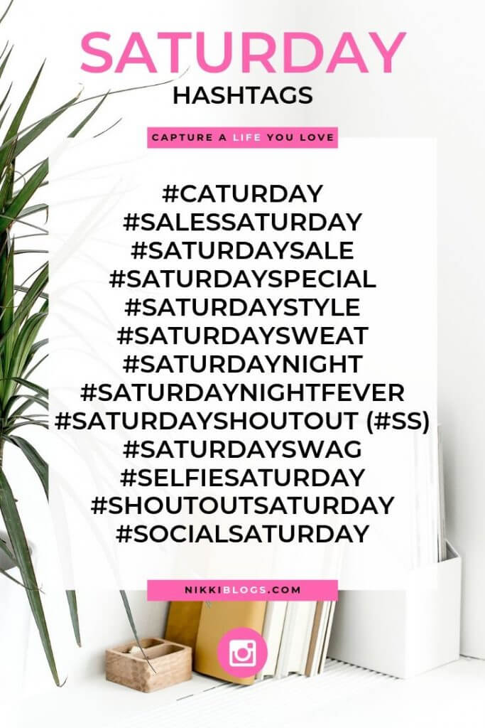 text reads saturday hashtags followed by 16 popular choices