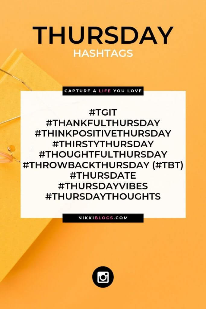 text reads thursday hashtags followed by 10 popular choices