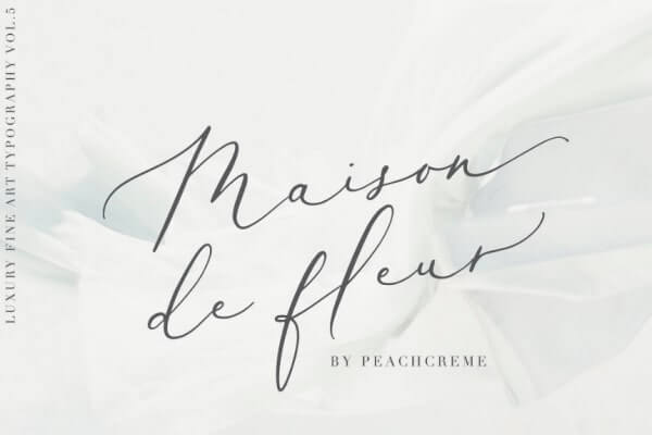 text reads maison de fleur against soft white background