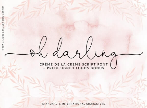 text reads oh darling against pretty pink floral background