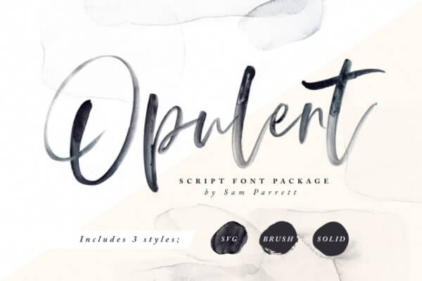 text reads opulent against white and cream color background
