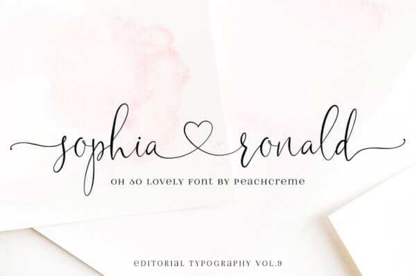 sophia ronald hand lettered font for branding and bloggers