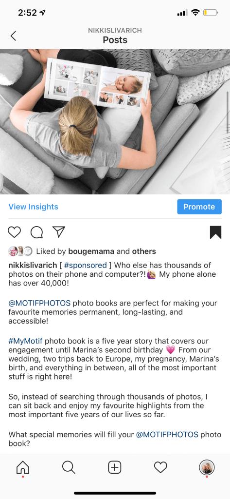 screenshot of a post by nikkislivarich showing working clean Instagram line breaks
