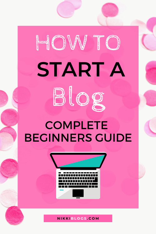 text reads how to start a blog complete beginners guide