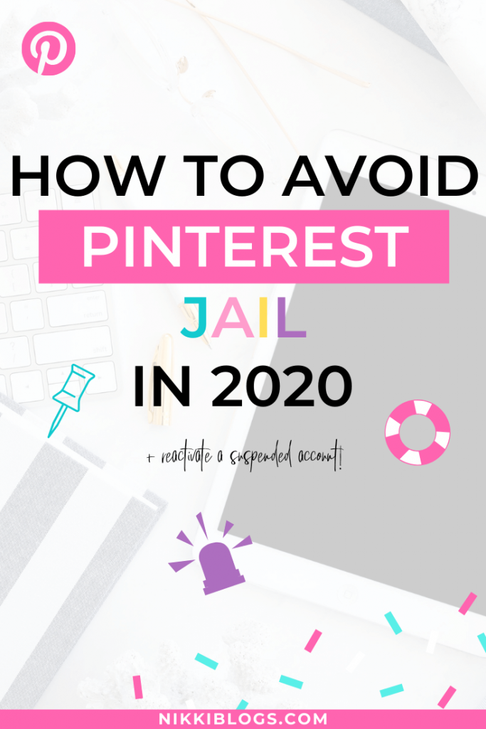 text reads how to avoid pinterest jail in 2020
