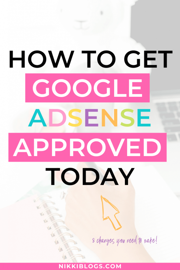 text reads how to get google adsense approved today
