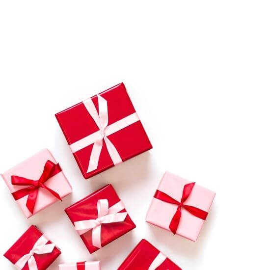 valentine's day blog post ideas - red and pink gifts