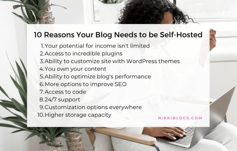 text reads 10 reasons your blog need to be self-hosted