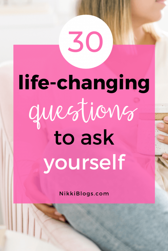 text reads 30 life-changing get to know yourself questions