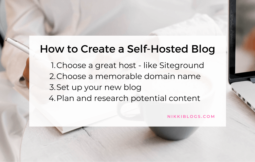 text reads how to create a self-hosted blog
