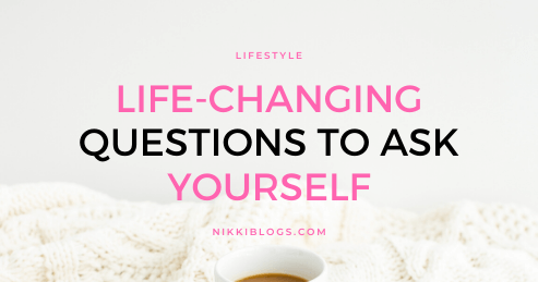 text reads life-changing get to know yourself questions