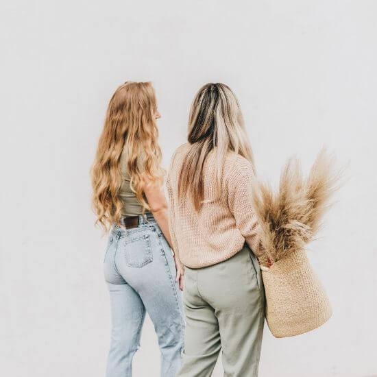 two friends soul searching