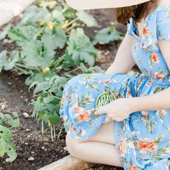 woman gardening - self care ideas for moms