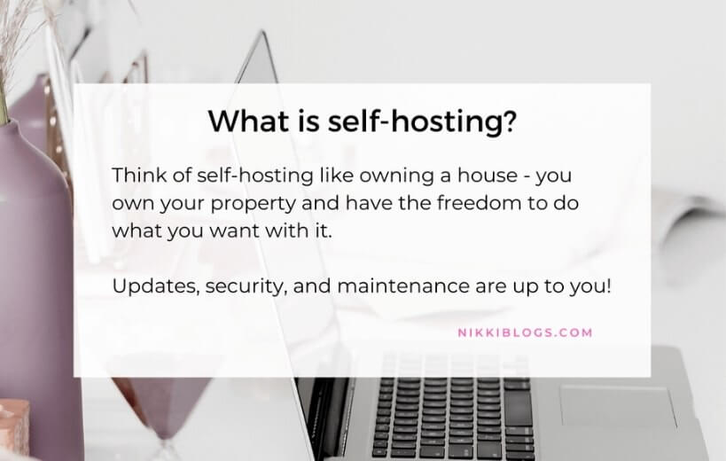 text reads what is self-hosting with a description below
