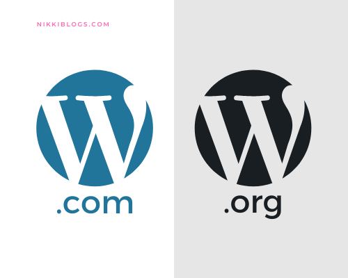 shows wordpress.com vs wordpress.org logos
