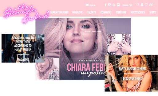 screenshot of the blonde salad lifestyle blog home page