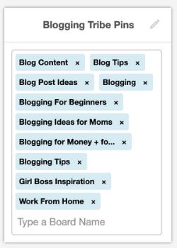 screenshot of tailwind board lists board example