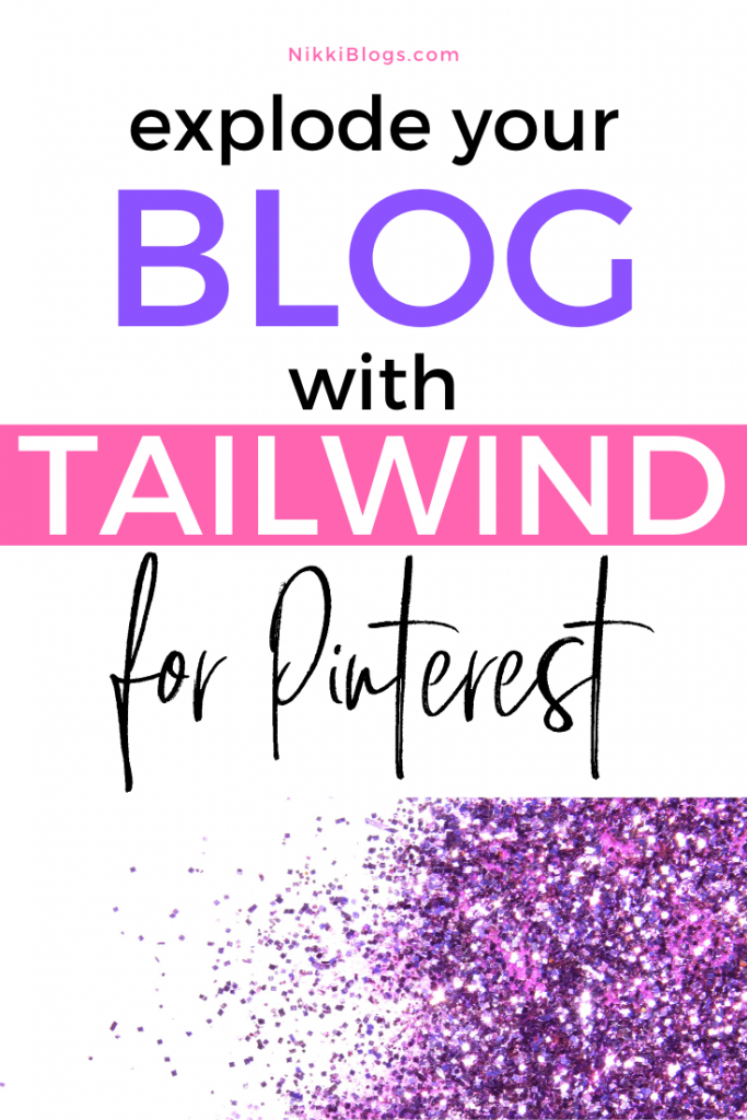 text reads explode your blog with tailwind for pinterest scheduler