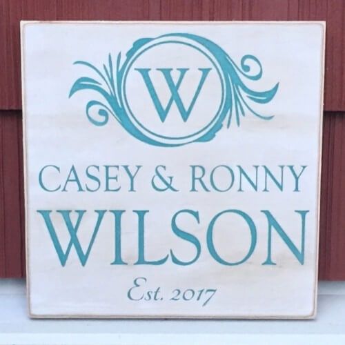 wooden sign made by heartwood gifts in bc, canada