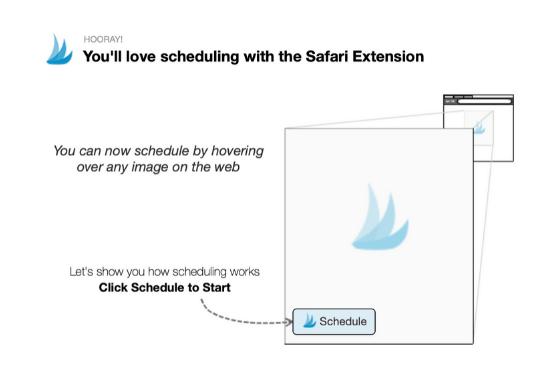 screenshot of tailwind for pinterest scheduler browser extension tutorial window
