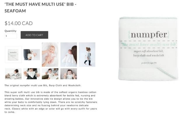 numpher the must have multi-use bib product description