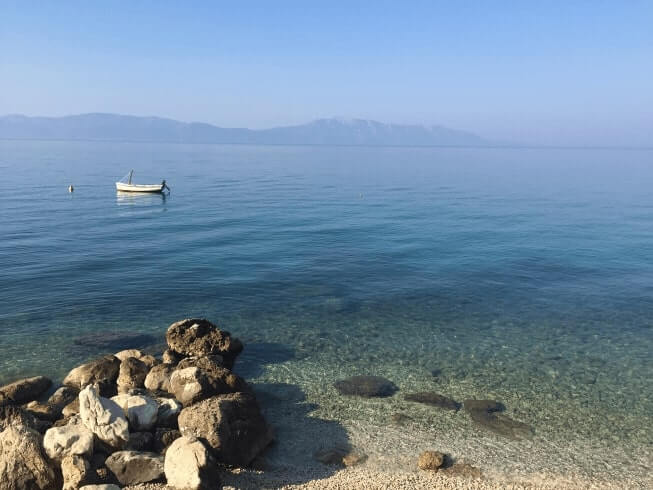 photograph of airbnb view from gradac, croatia