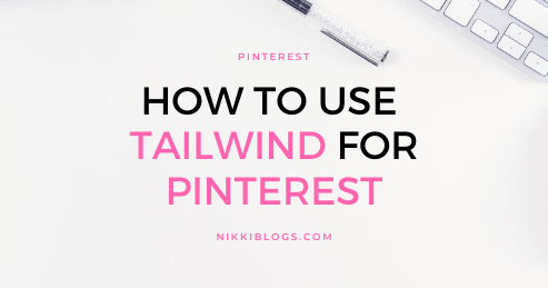text reads how to use tailwind for pinterest