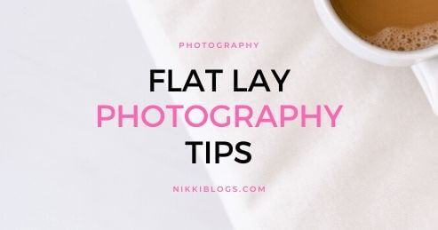 text reads flat lay photography tips